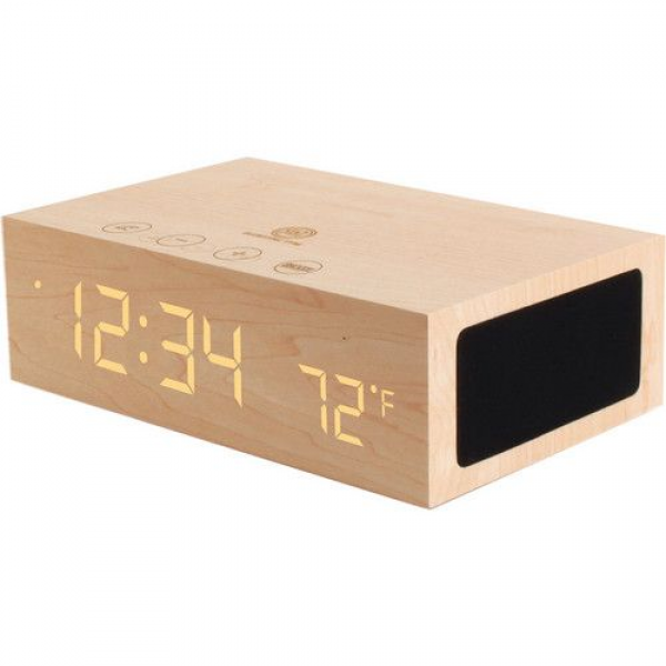 Wooden Alarm Clock/ Bluetooth Speaker | Home sweet home | Pinterest