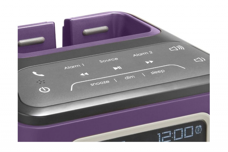Amazon.com: JAM ZZZ Wireless Alarm Clock (Purple) HX-B510PU: MP3 ...