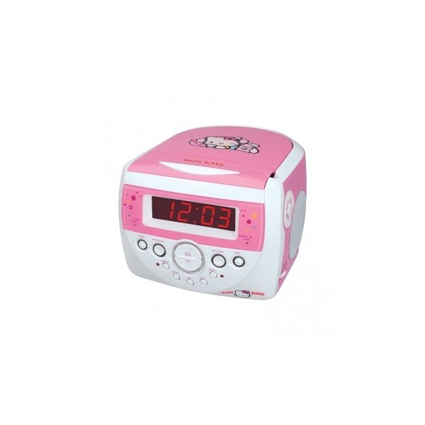 Hello Kitty KT2053 AM/FM Stereo Alarm Clock Radio with CD Player ...