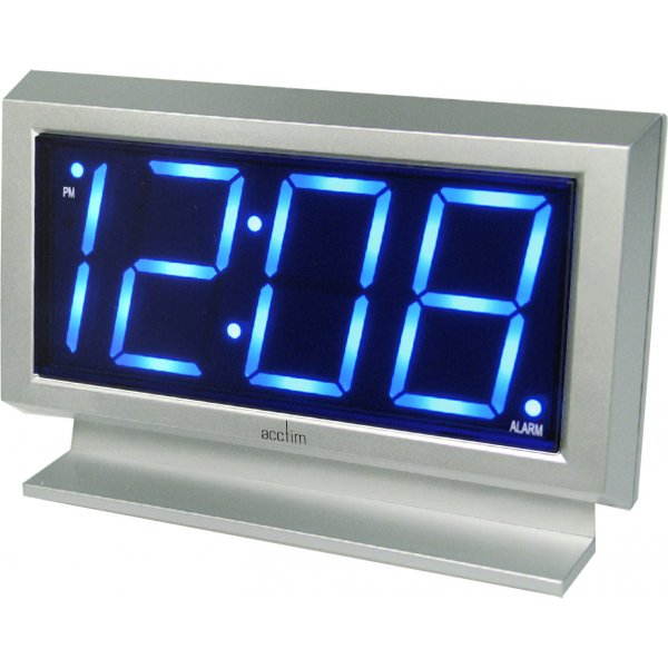 ... LABATT EXTRA LARGE DISPLAY LED SILVER MAINS POWERED ALARM CLOCK | eBay