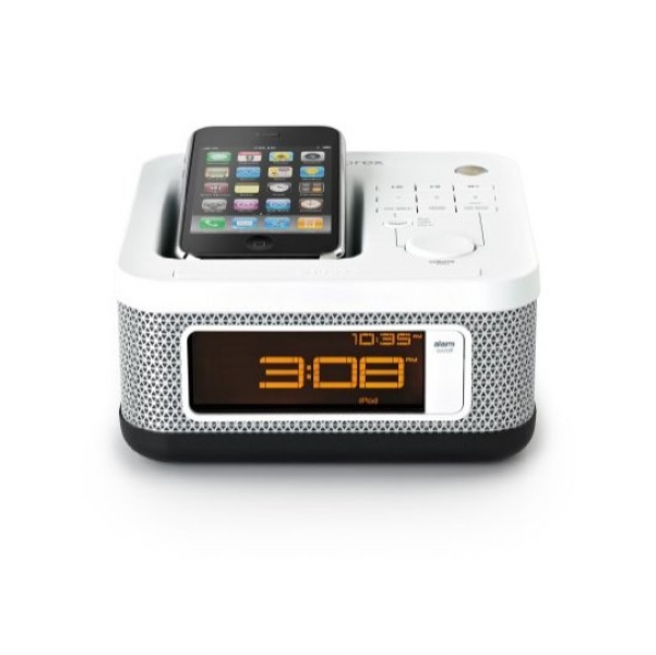 Memorex Memorex MI4604PWHT Mini Alarm Clock Radio For IPod And IPhone ...