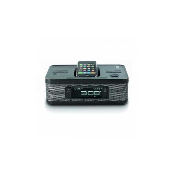 Memorex MI4703PBLK Clock Radio Dual Alarm for iPod - TechGriffin.com