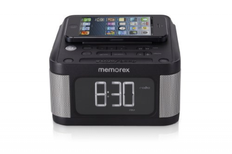Memorex Universal Charging Alarm Clock with FM radio Black Reviews