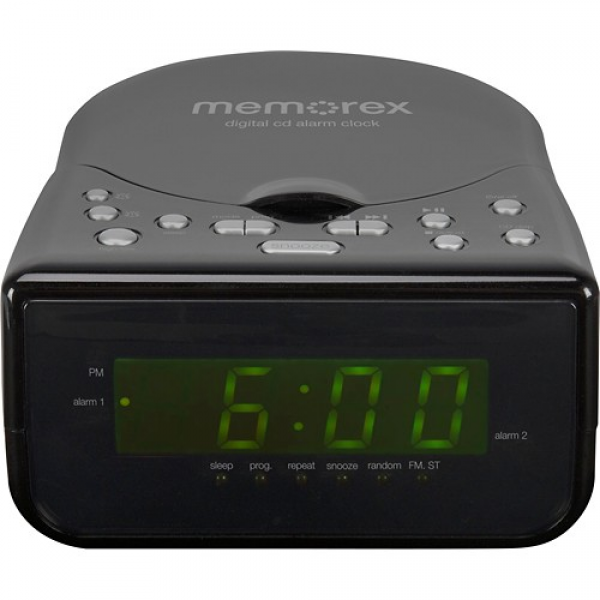 Memorex - CD Alarm Clock Radio - Black - Memorex - CD Alarm Clock ...