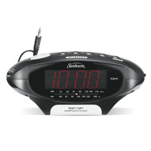 Sunbeam Hospitality MP3 Ready AM/FM Alarm Clock Radio, Black | FREE ...