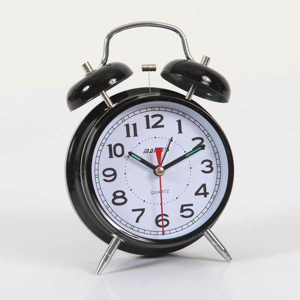 Black Double-bell Table Alarm Clock
