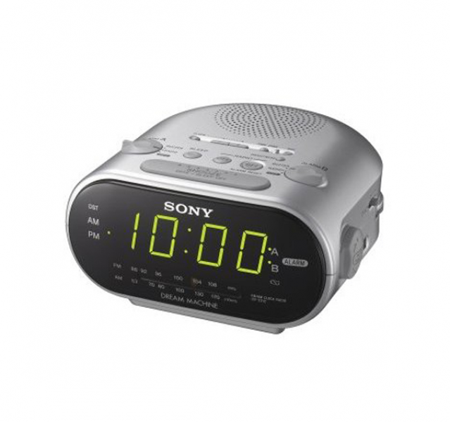 sony dual alarm clock radio radio alarm clocks www top clocks com. Black Bedroom Furniture Sets. Home Design Ideas