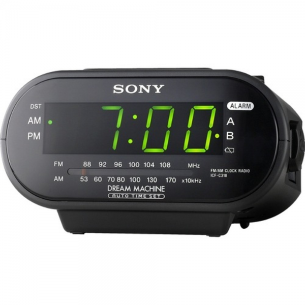Thumbnail Image for Sony ICF-C318 Alarm Clock Radio with Dual Alarm ...