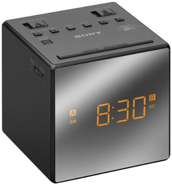Sony Dual Alarm Clock with Extendable Snooze, AM/FM Radio, Built-in ...