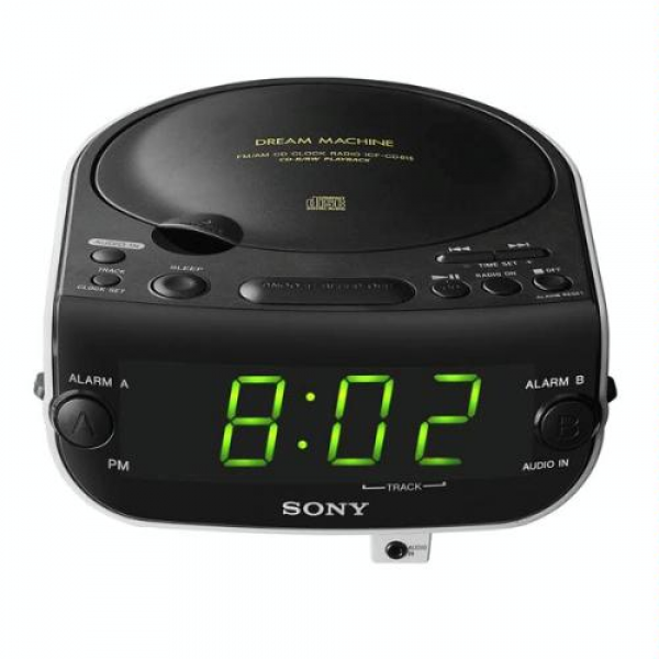 Sony ICF-CD815 AM/FM Stereo CD Clock Radio with Dual Alarm by Sony ...