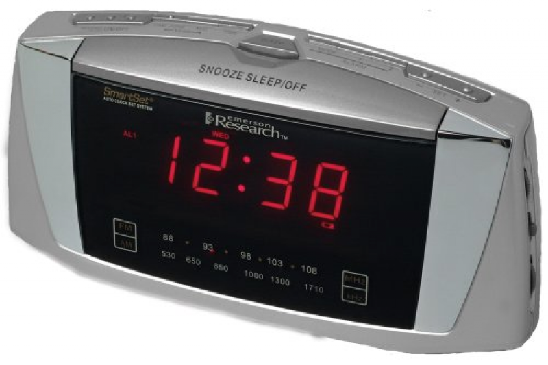 Emerson Radio CKS5055S SmartSet Dual Alarm Clock Radio with Large LED ...