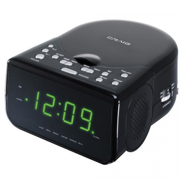 Alarm Clock Radio With CD Player, CD-R/CD-RW Compatible, AM/FM Stereo ...