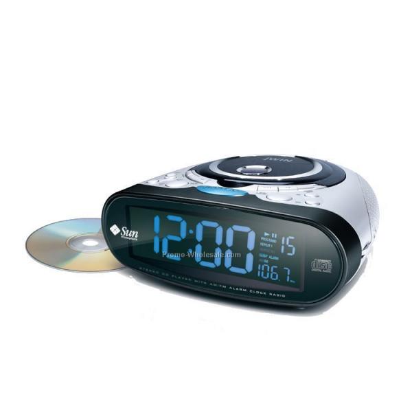 stereo alarm clock radio with cd player radio alarm. Black Bedroom Furniture Sets. Home Design Ideas