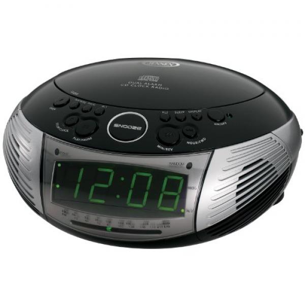 stereo alarm clock radio with cd player radio alarm clocks www top clocks com. Black Bedroom Furniture Sets. Home Design Ideas