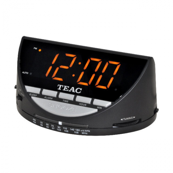 Teac Single Alarm Clock Radio with Large Display Black CRX9 BRAND NEW