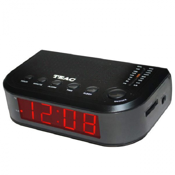 Teac Single Alarm Clock Radio With Large Display Black CRX9 BRAND NEW ...