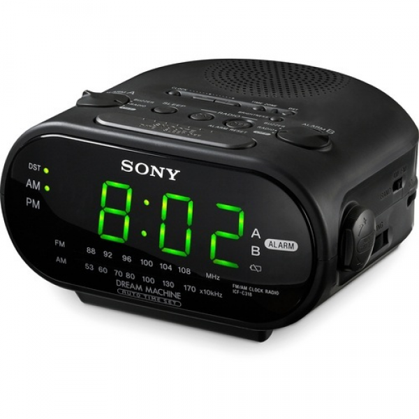 Sony ICF-C318 Alarm Clock Radio with Dual Alarm and Battery Backup ...