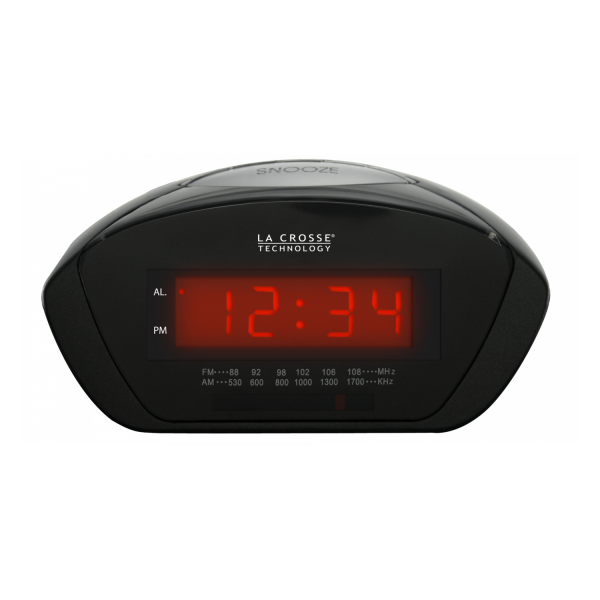 ... red led display am fm radio snooze alarm wake to radio or buzz alarm