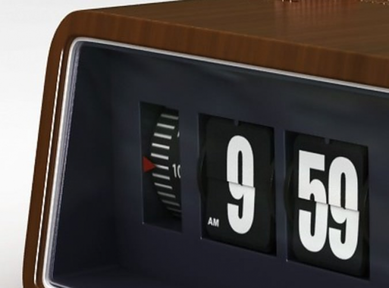 Retro Style Radio Alarm Flip Clock 3D Model .max .obj .3ds .fbx .c4d ...