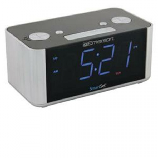 Details about Emerson Smart Set AM FM Dual Alarm Clock Radio AuxIn ...