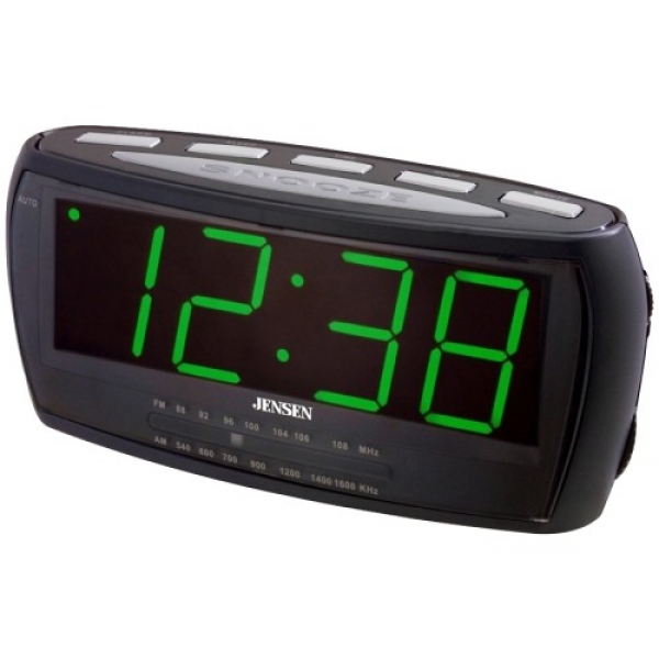 ... Alarm Clock Radio - Jensen - Jcr-208 Am/Fm Alarm Clock Radio
