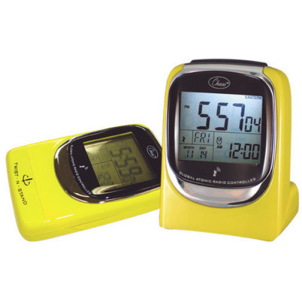 Chass ''Global Sync'' Atomic Clock in Shiny Yellow - Walmart.com