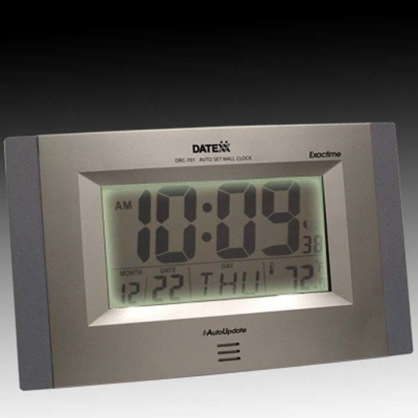 Self Setting Atomic Wall Clock with Month Day Date Temperature | eBay