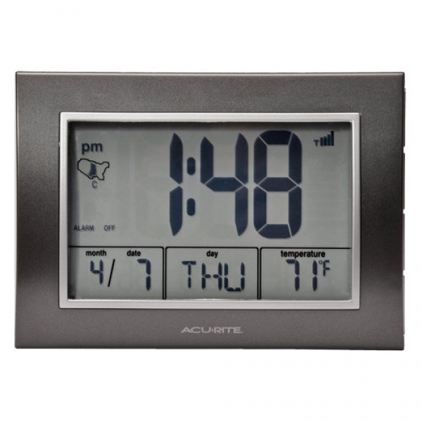 AcuRite Atomic Desk Clock - Walmart.com