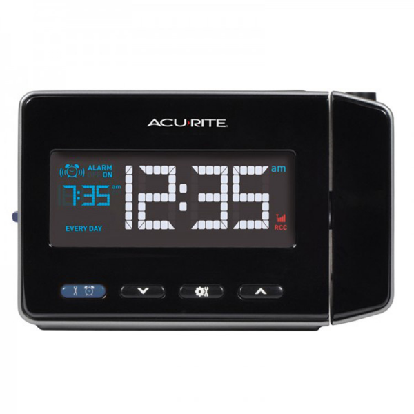 Alarm Clocks: AcuRite 13021 Atomic Projection Alarm Clock with USB ...