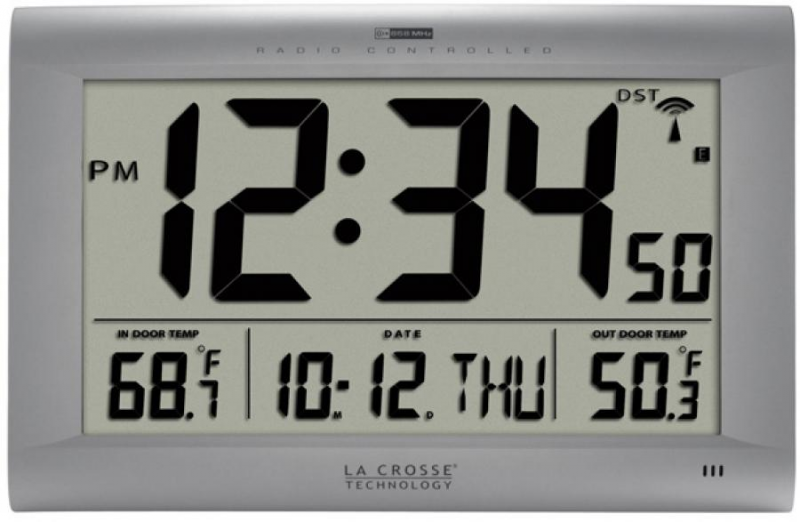 Clockway: PLR Sleaford Large Atomic Digital Wall Clock Indoor Outdoor ...