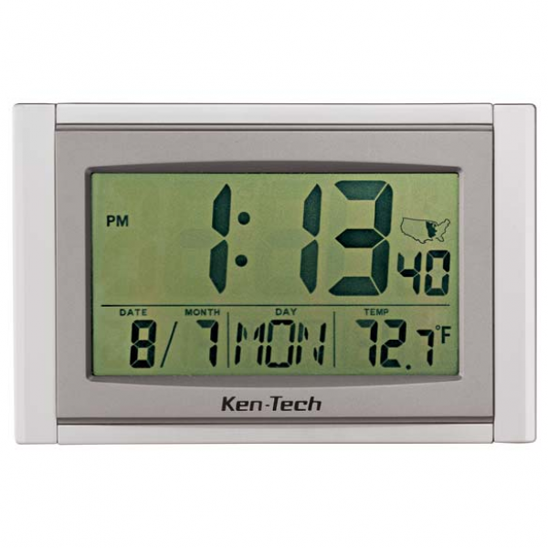 Large LCD Atomic Clock - Digital Atomic Clock - Easy Comforts