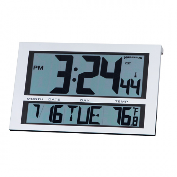 Large Digit Radio Atomic Clock with Six Time Zones - 08683-15
