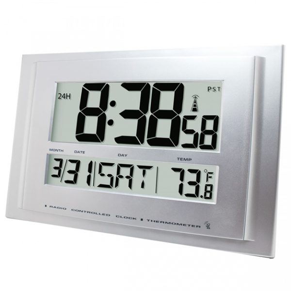Traceable® Digital Radio Atomic Wall Clock – Clocks – Timing ...