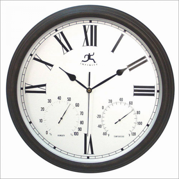 Radio Controlled Outdoor Wall Atomic Clock - Outdoor Clocks