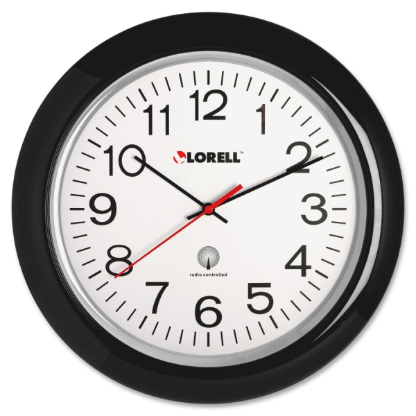 Lorell Radio Controlled Wall Clock - Digital - Quartz - Atomic - By ...