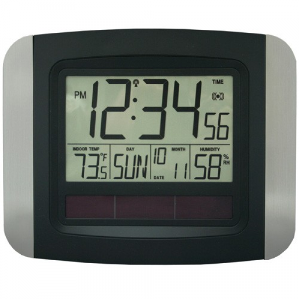La Crosse Technology Solar Powered Atomic Wall/Desk Clock by Mainstays