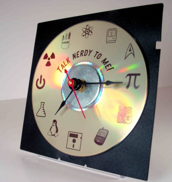 Talk Nerdy To Me Desk Clock by GeekGear on Etsy