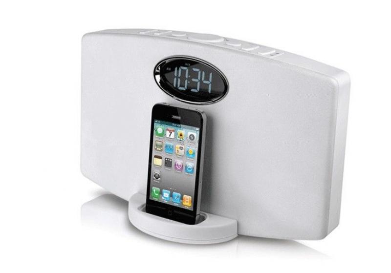 best iphone radio alarm clock iphone alarm clocks www top clocks com. Black Bedroom Furniture Sets. Home Design Ideas