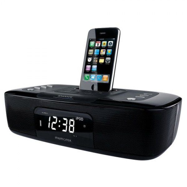 Memorex Dual Alarm Clock Radio for iPhone/iPod