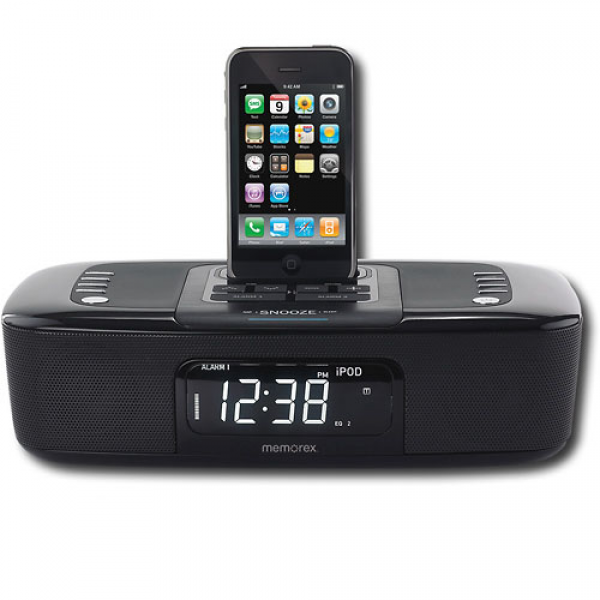 Memorex MI4290PBLK Dual Alarm Clock Radio with iPod / iPhone Dock ...