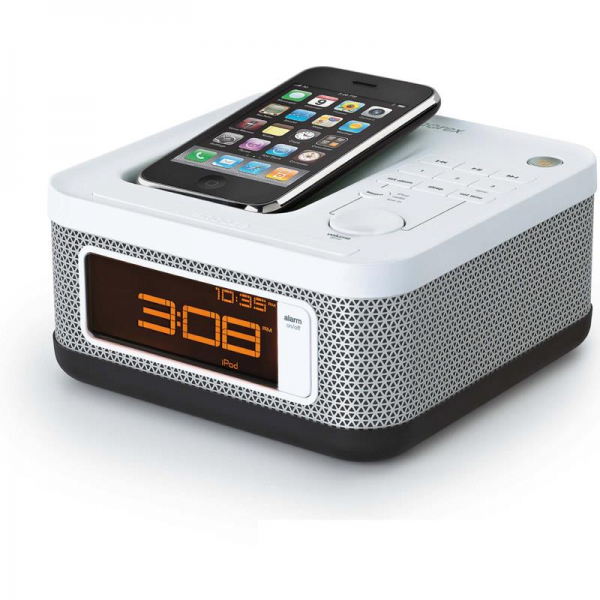Memorex EMi-46105 iPhone iPod Speaker Dock Alarm Clock Radio: Click to ...