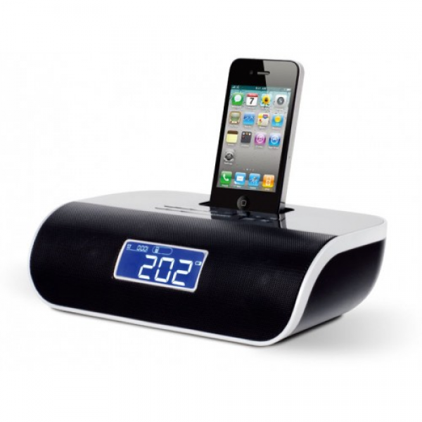 iConnect2 S200 iPhone 5 Dock Dual Alarm Clock Radio