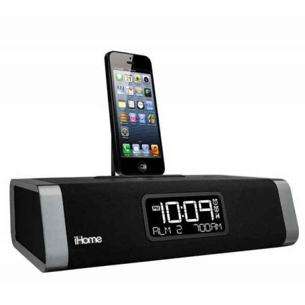 SecureShot iPhone 5 Clock Radio Docking Station Hidden Camera With DVR