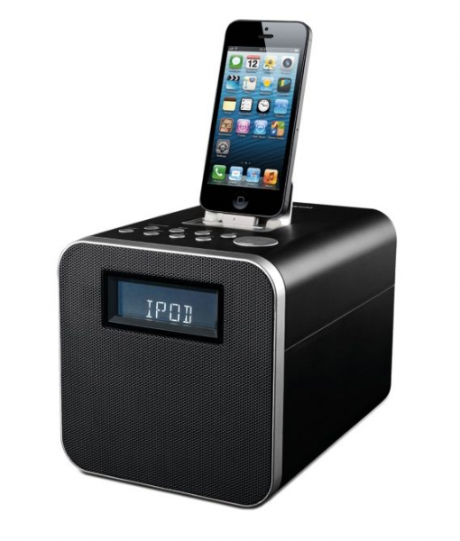 radio alarm clock for iphone 5 best iphone 5 5s clock radio docks compact stylish ihome 110. Black Bedroom Furniture Sets. Home Design Ideas