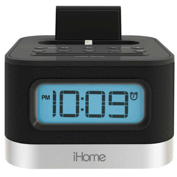 ... for iPad/iPhone 5 (Dual Charging:Stereo:Alarm Clock:Radio) - Black