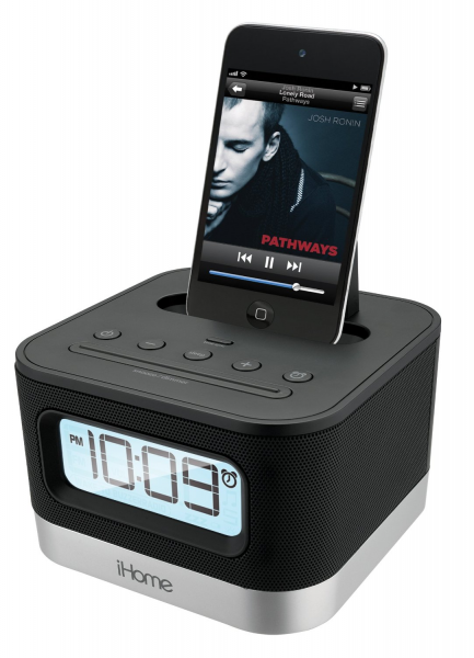 ... iP10BC Stereo Alarm Clock Speaker and Charging Dock for iPhone/iPod