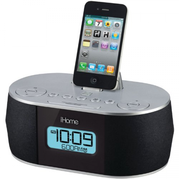 ... Stereo System Dual Alarm Clock Radio for IP D iPhone iPod Dock | eBay