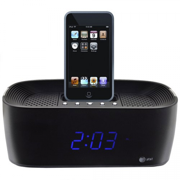 coolBlue iPhone and iPod dock With Alarm Clock Radio