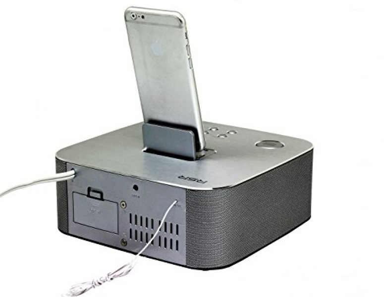 ... iPhone/iPad Alarm Clock Speaker Dock with Bluetooth, Compatible with