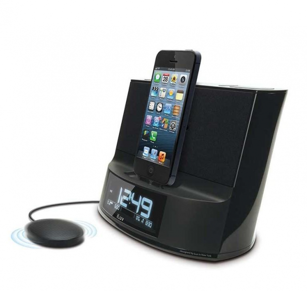 ... TimeShaker Dual Alarm Clock Speaker with Bed Shaker and Lightning Dock